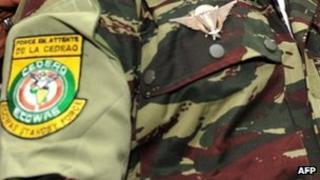 Uniform of an Ecowas commander