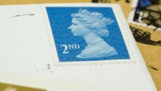 Second-class stamp