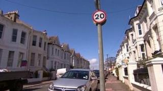 20mph zone in Brighton