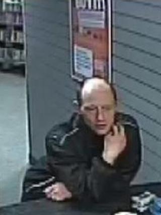 A CCTV image of double murder suspect James Allen