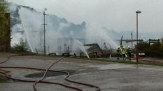 Firefighters tackle fire at Sheffield Ski Village