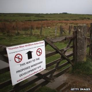 Protest notice on farm gate