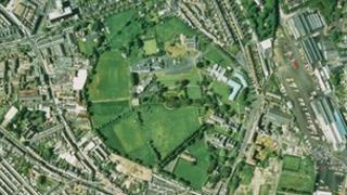Aerial view of Phoenix Park