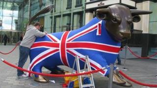 Bullring bull statue