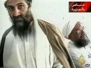 An October 2001 photo of Osama Bin Laden (left) with Ayman al-Zawahri at an undisclosed location