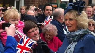 The Duchess of Cornwall at the freedom parade in Thame