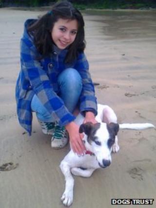 Annie Thomas with Blitzen