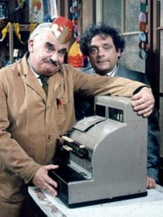 Ronnie Barker and David Jason in Open All Hours