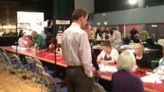 Election count in Exeter