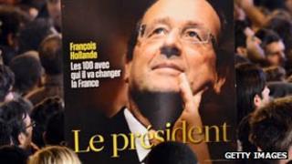Placard of Francois Hollande