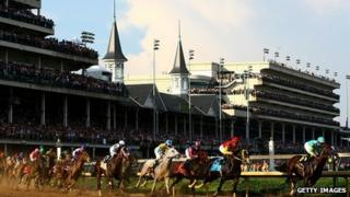 Runners at Churchill Downs during the 138th Kentucky Derby
