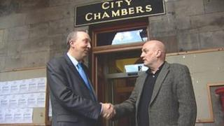 Labour leader Andrew Burns and SNP leader Steve Cardownie