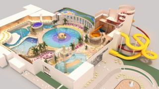Computer-generated image of new Butlins Skegness water attraction