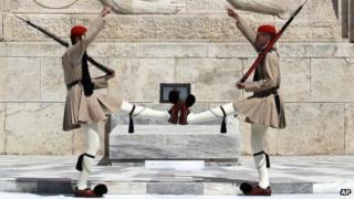 Greek presidential guards