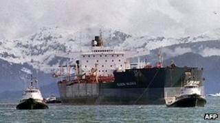 Exxon Valdez (File photo taken in April 1989)