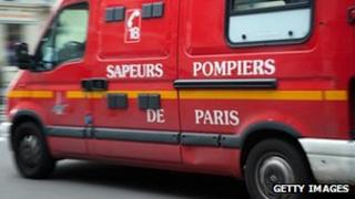 Paris fire engine (file pic)