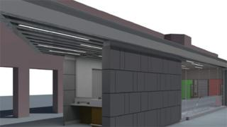 Artist impression of how some of the revamped Rhyl station would look