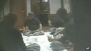 Grab of secret video footage of South Korean monks gambling