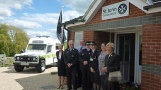 The new St John Ambulance training centre at Halstead