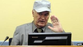 Ratko Mladic in court