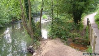 The River Alyn runs through Alyn Waters Country Park