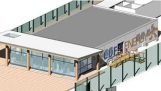 Artist's impression of Sizewell B's visitor centre