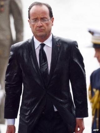 Francois Hollande at the Arc de Triomphe