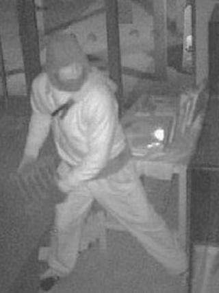 CCTV images from theft of Wenlok Jug