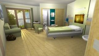 Artist's impression of new in-patient room