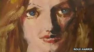 Bonnie Tyler by Rolf Harris (detail)