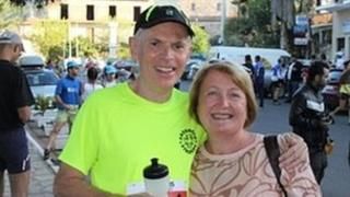John Lawton and wife Lynda, pic courtesy of trailproject.gr