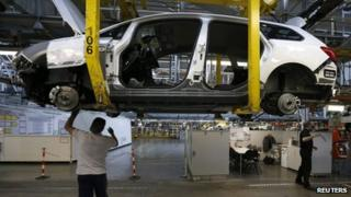 Production line at Vauxhall