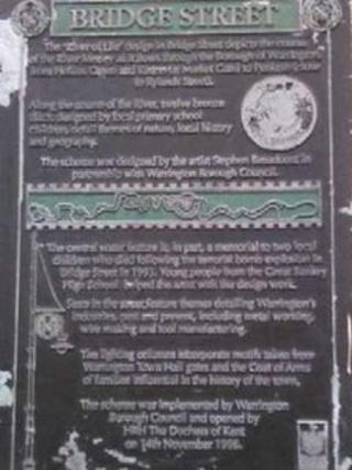 The plaque stolen from Bridge Street