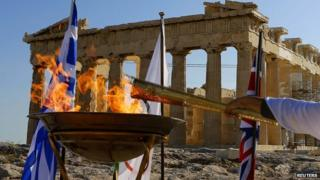 Olympic flame in Greece
