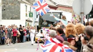 Large crowds greeted the Olympic Torch on the second day