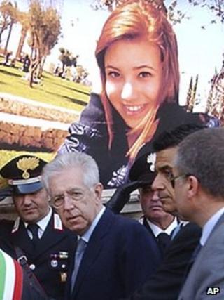 Italian PM Mario Monti in Mesagne (21 May 2012)