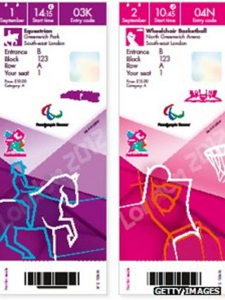 London 2012 ticket design