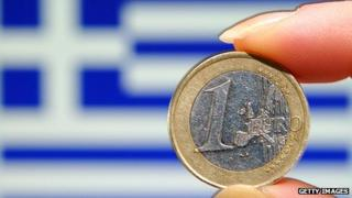 Greek flag & euro