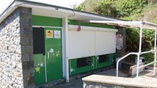 Saints Bay kiosk in Guernsey