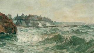 John Falconar Slater, Stormy Sea at Cullercoats, 1879