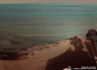 Image of the Endeavour Crater on Mars taken by Nasa's Opportunity rover