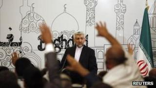Iran's chief negotiator Saeed Jalili speaks at a news conference in Baghdad. Photo: 24 May 2012