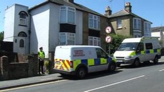 Police activity at Isle of Wight house