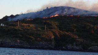 Fire on Colonsay