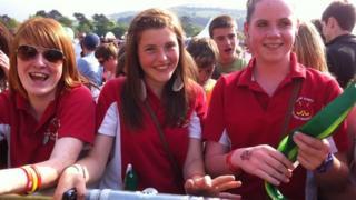 Crowds in Aberystwyth
