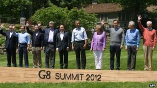 G8 country leaders photocall, Maryland, 2012