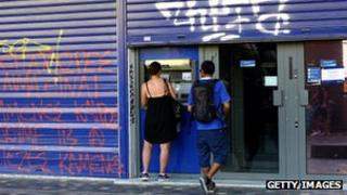 Greek cash machine