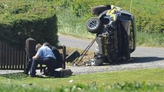 Gardai at scene of crash