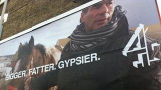 Bigger. Fatter. Gypsier. Channel 4 billboard advert