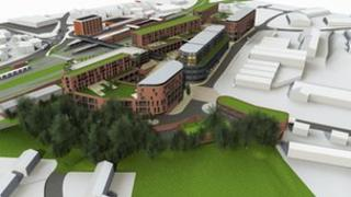 Artist's impression of new development at Sherriff Street in Worcester